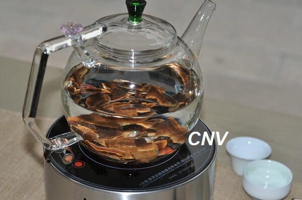 cách nấu nấm linh chi để uống