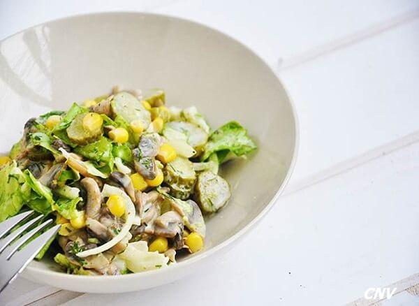 salad nấm mỡ